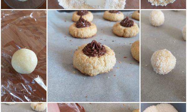 IMPASTO FROLLA AL COCCO per biscotto con nutella