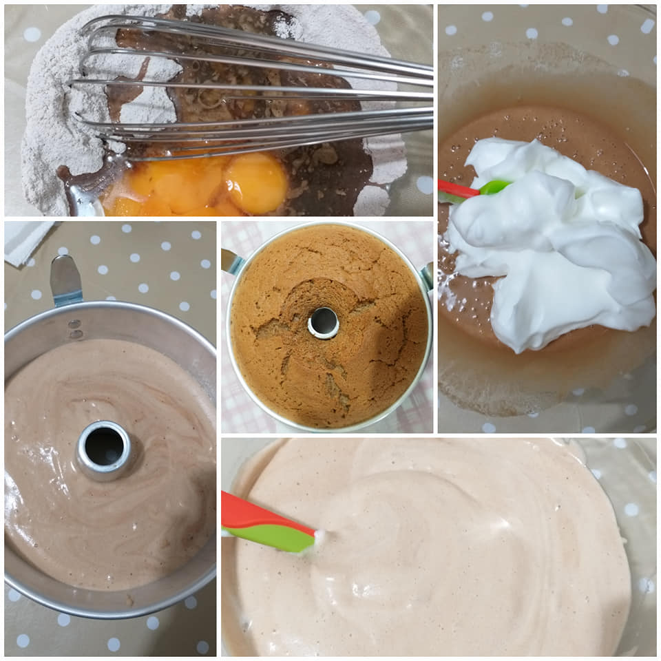 impasto torta chiffoncake al caffe'