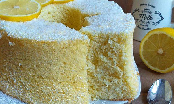 TORTA CHIFFON CAKE COCCO e limone