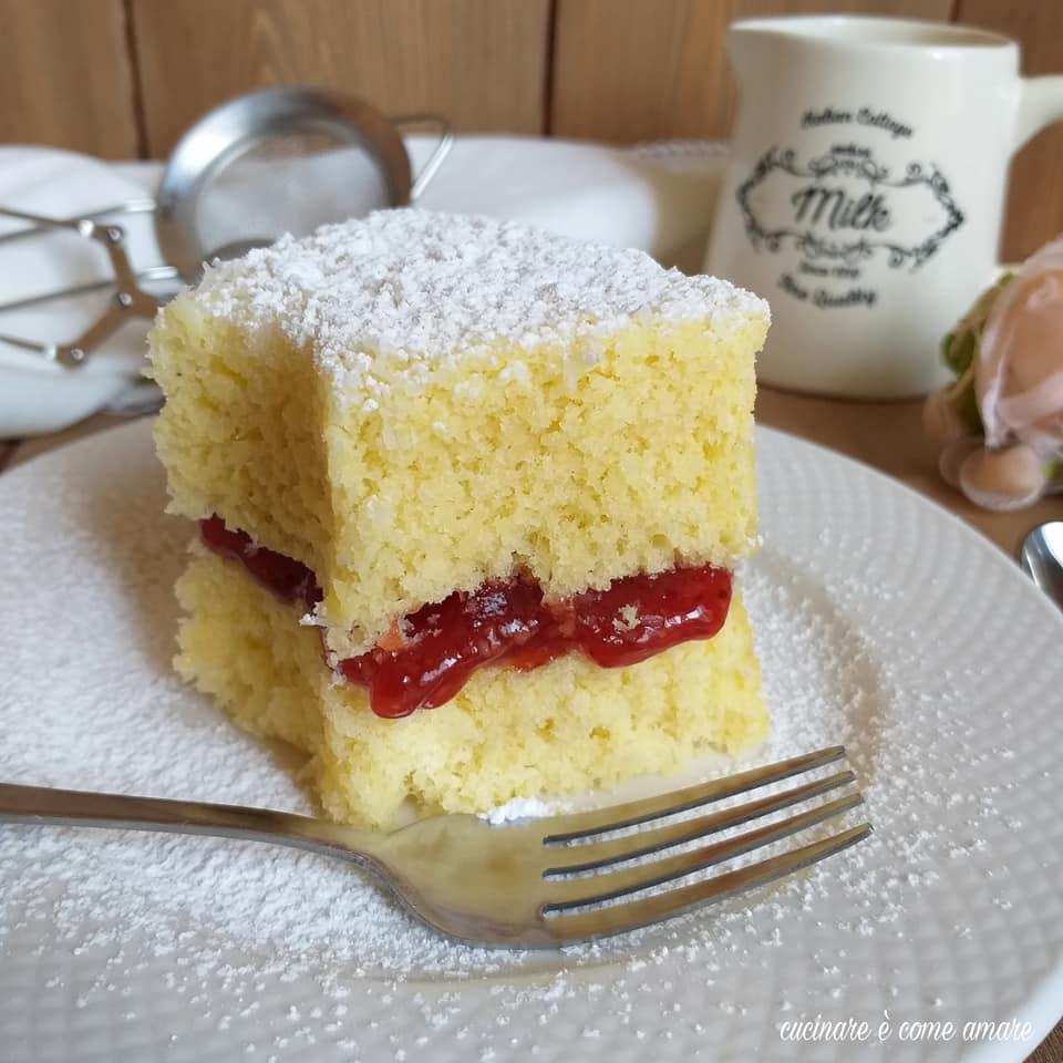torta paradiso con ripieno marmellata