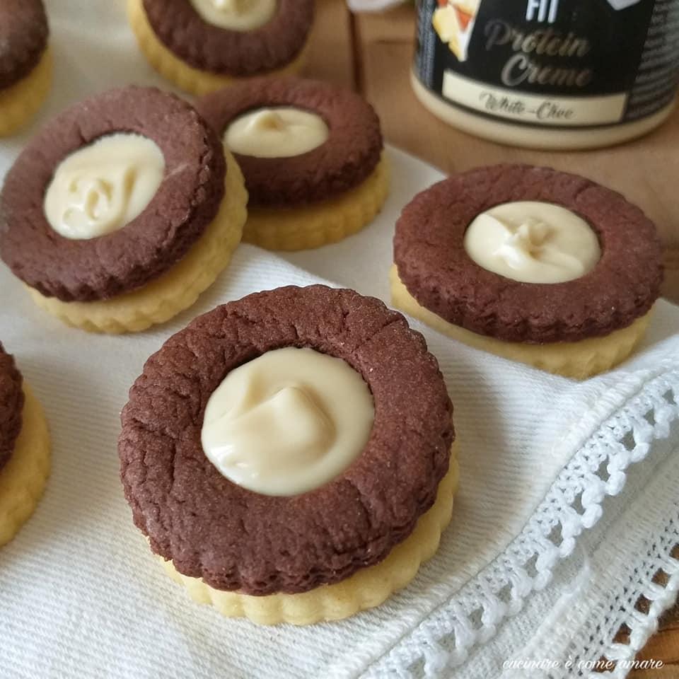 biscotto bigusto ripieno crema cioccolato bianco