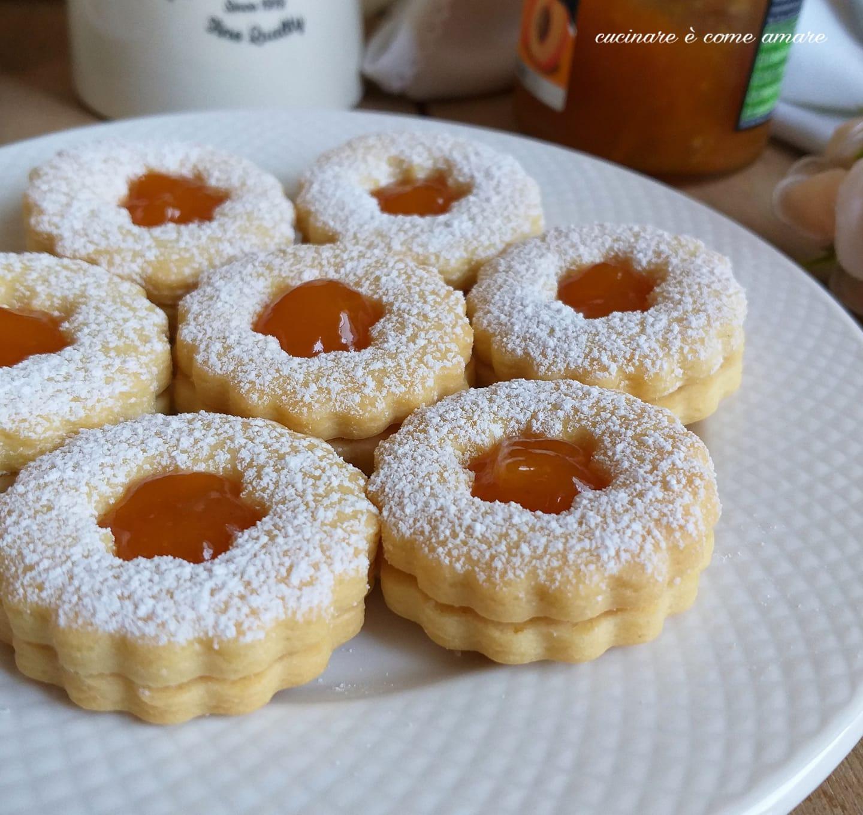biscotto frollino senza glutine ripieno marmellata