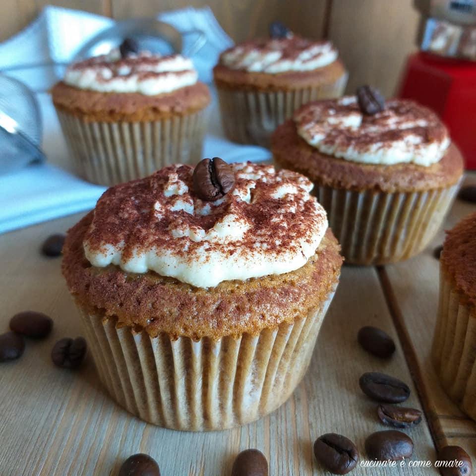 dolce muffin tiramisu' caffe' e mascarpone