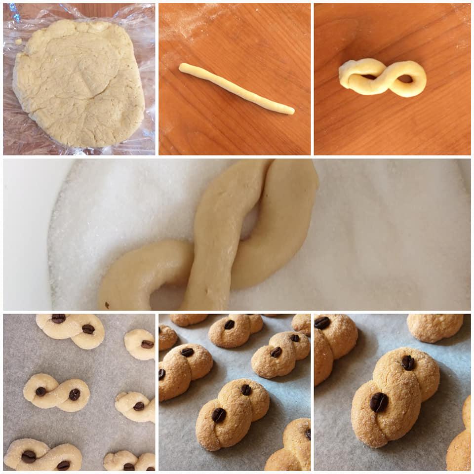 impasto biscotti al caffe' dolce da inzuppo