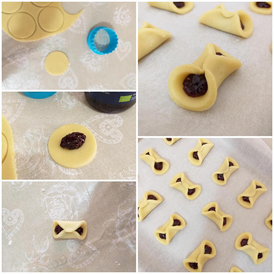impasto biscotto fiocco dolce ripieno