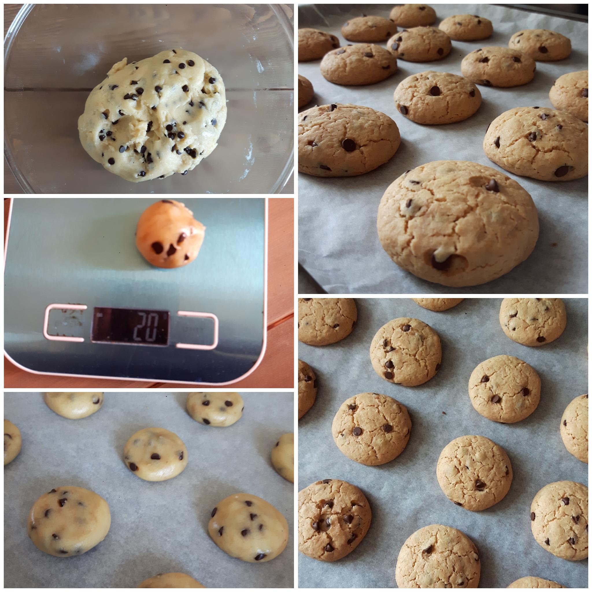 impasto biscotto semplice con gocce cioccolato