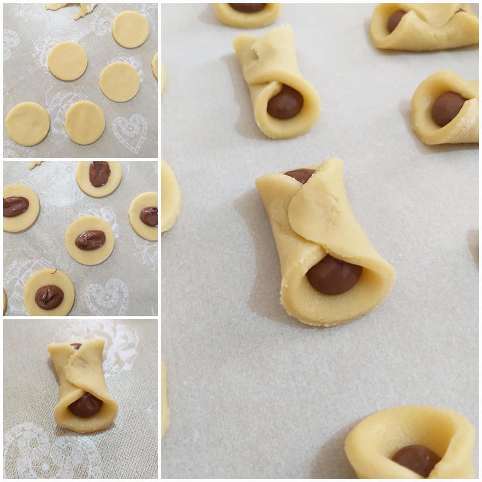 impasto dolce biscotto fiocco ripieno