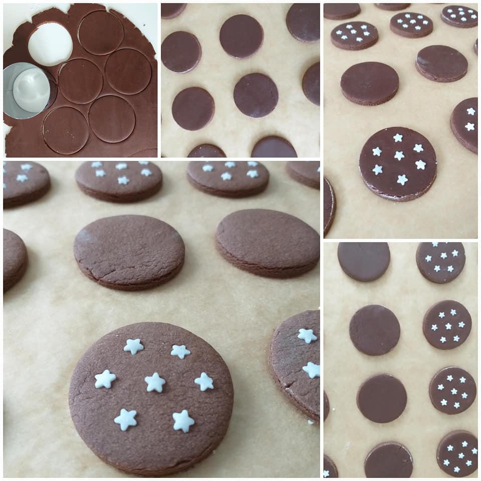 impasto dolce biscotto panstelle cacao nocciole