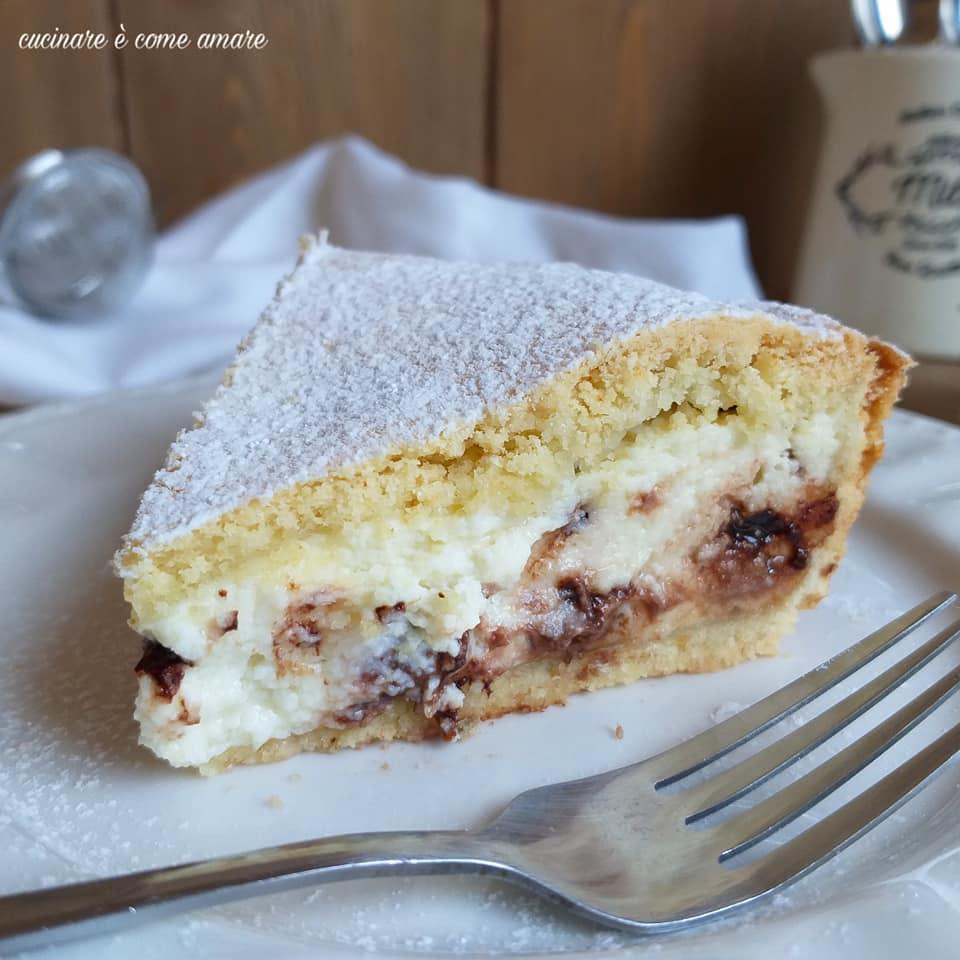 torta cassata al forno ricotta e cioccolato