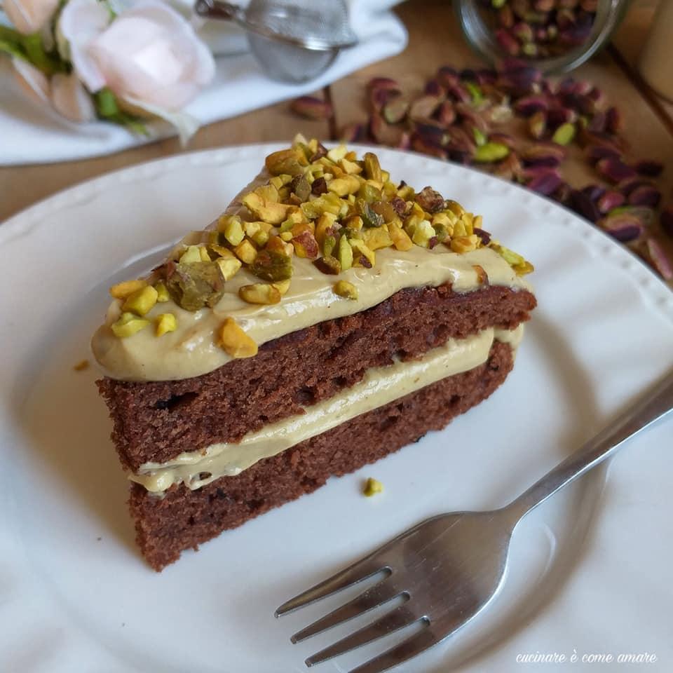 torta dolce golosa cacao e crema pistacchio