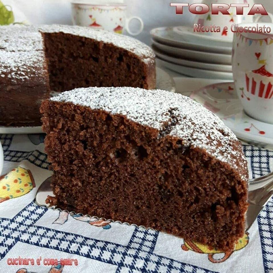 torta ricotta cioccolato dolce soffice