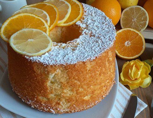 DOLCE TORTA AGLI AGRUMI con impasto chiffon cake