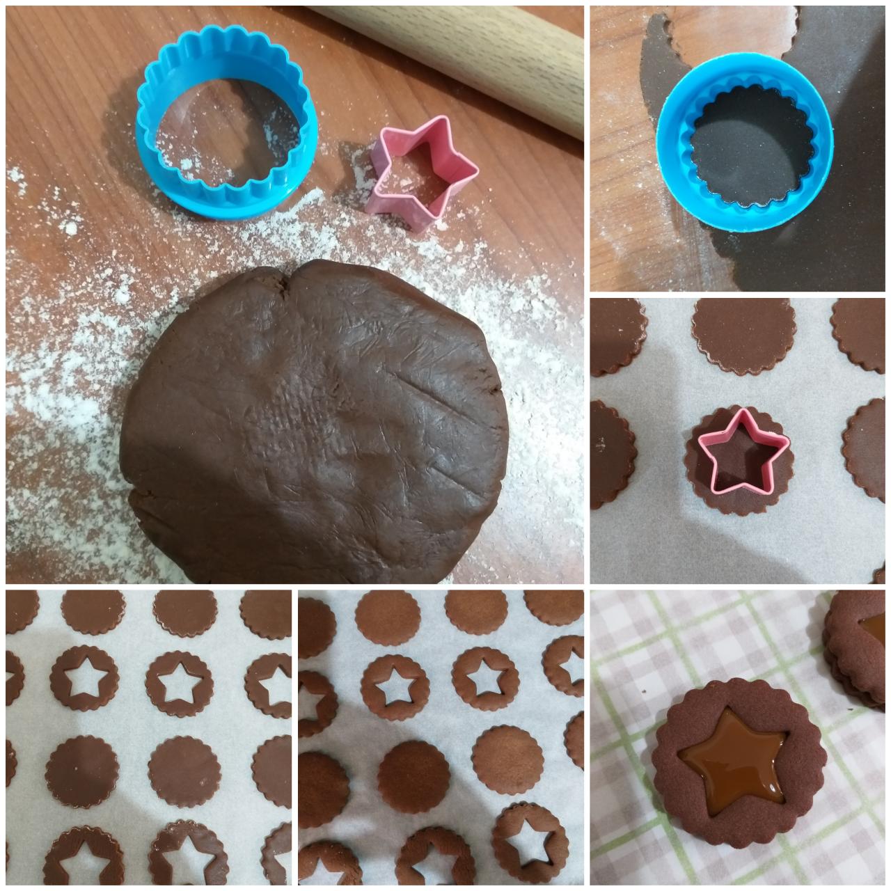 impasto biscotto ripieno al cacao con nutella