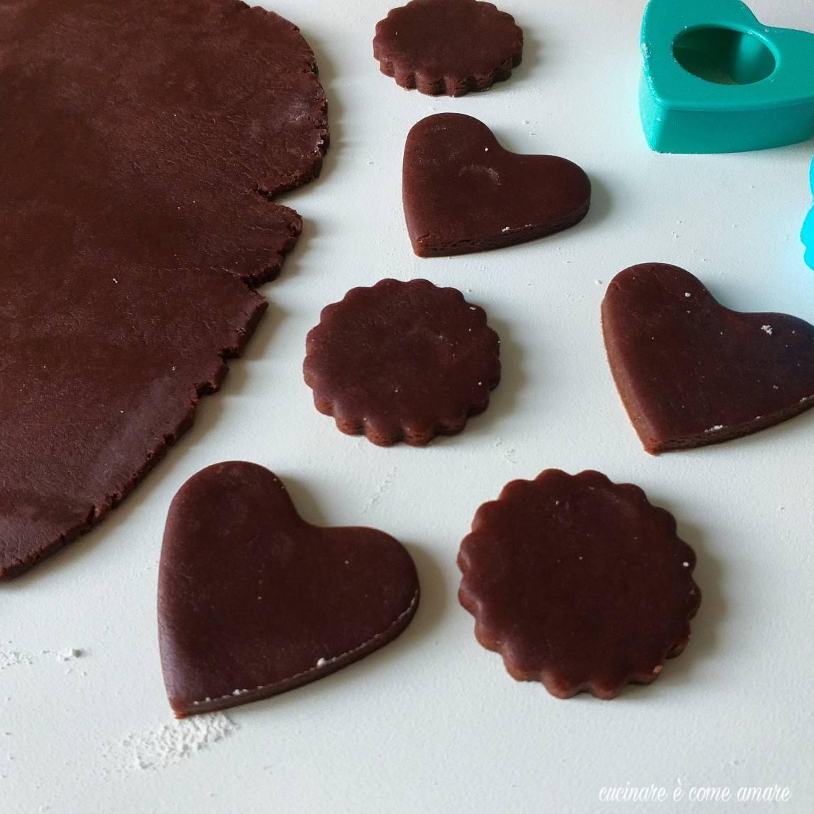 impasto dolce frolla al cacao per biscotti