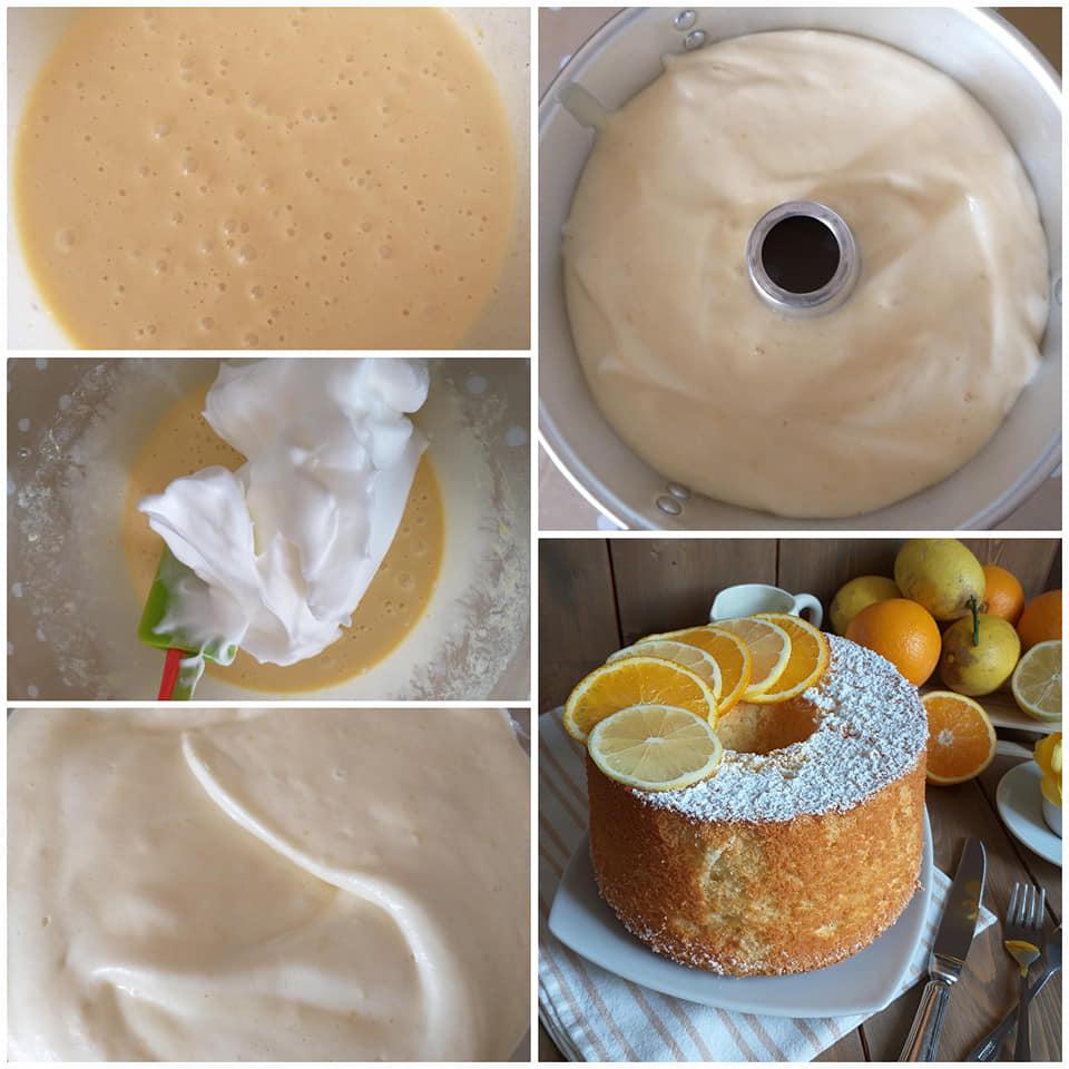 impasto dolce torta nuvola agli agrumi