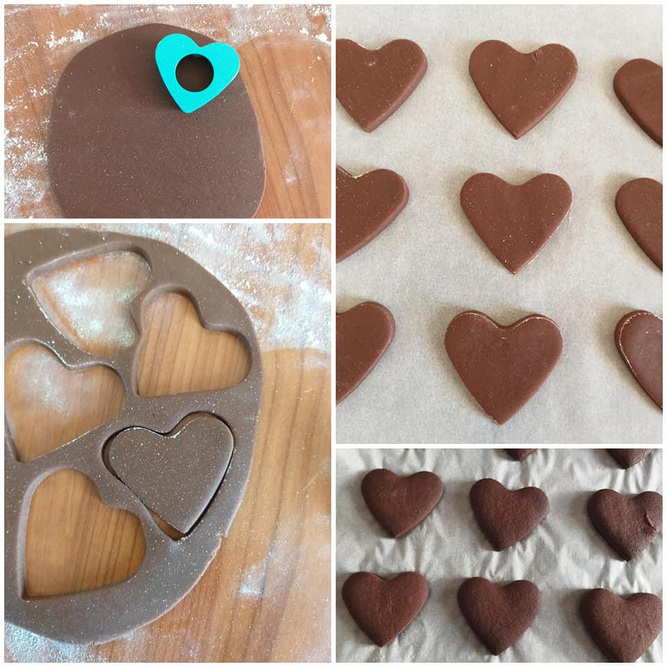 impasto per biscotti al burro con cacao