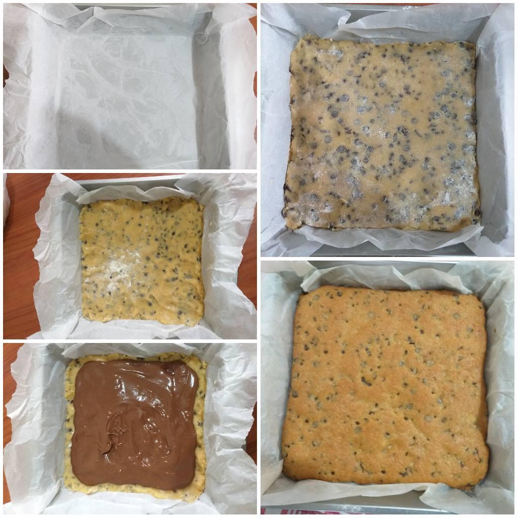 impasto torta biscotto ripiena di nutella