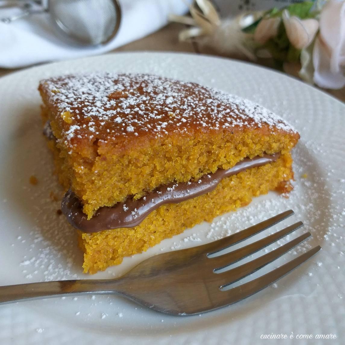 torta alla zucca e nutella dolce ripieno