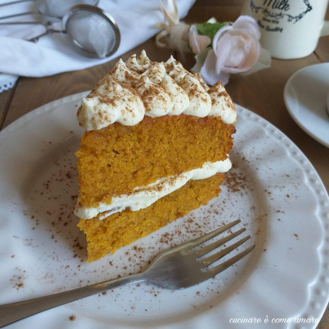 torta alla zucca ripiena di crema mascarpone