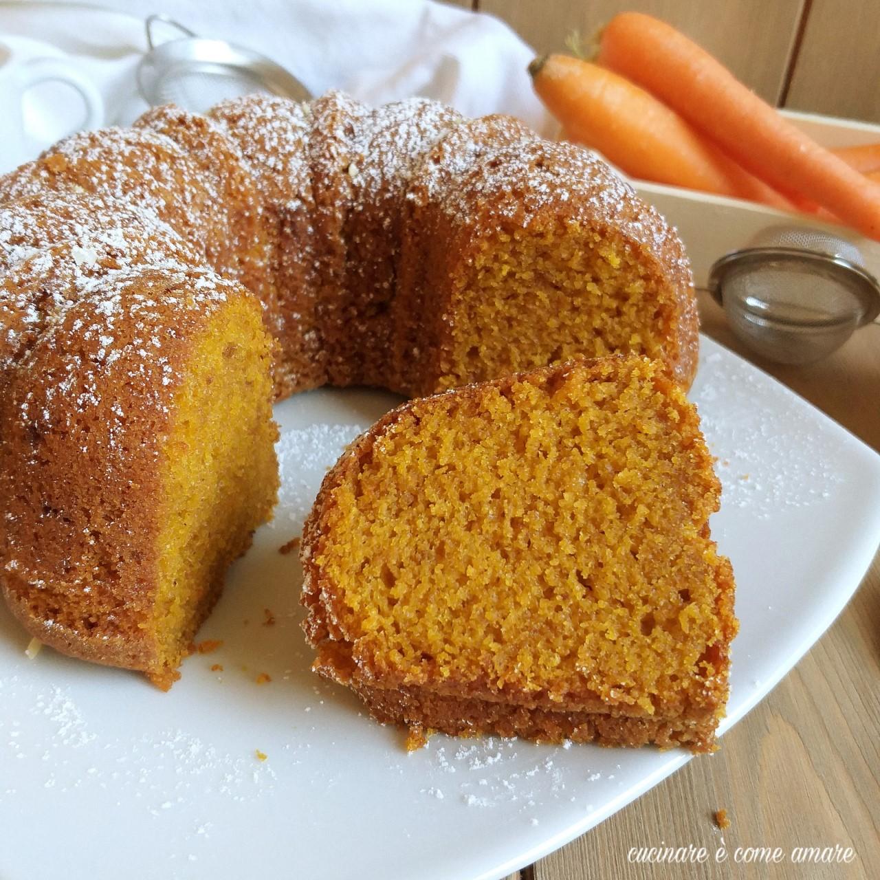 torta ciambella con carote frullate dolce soffice