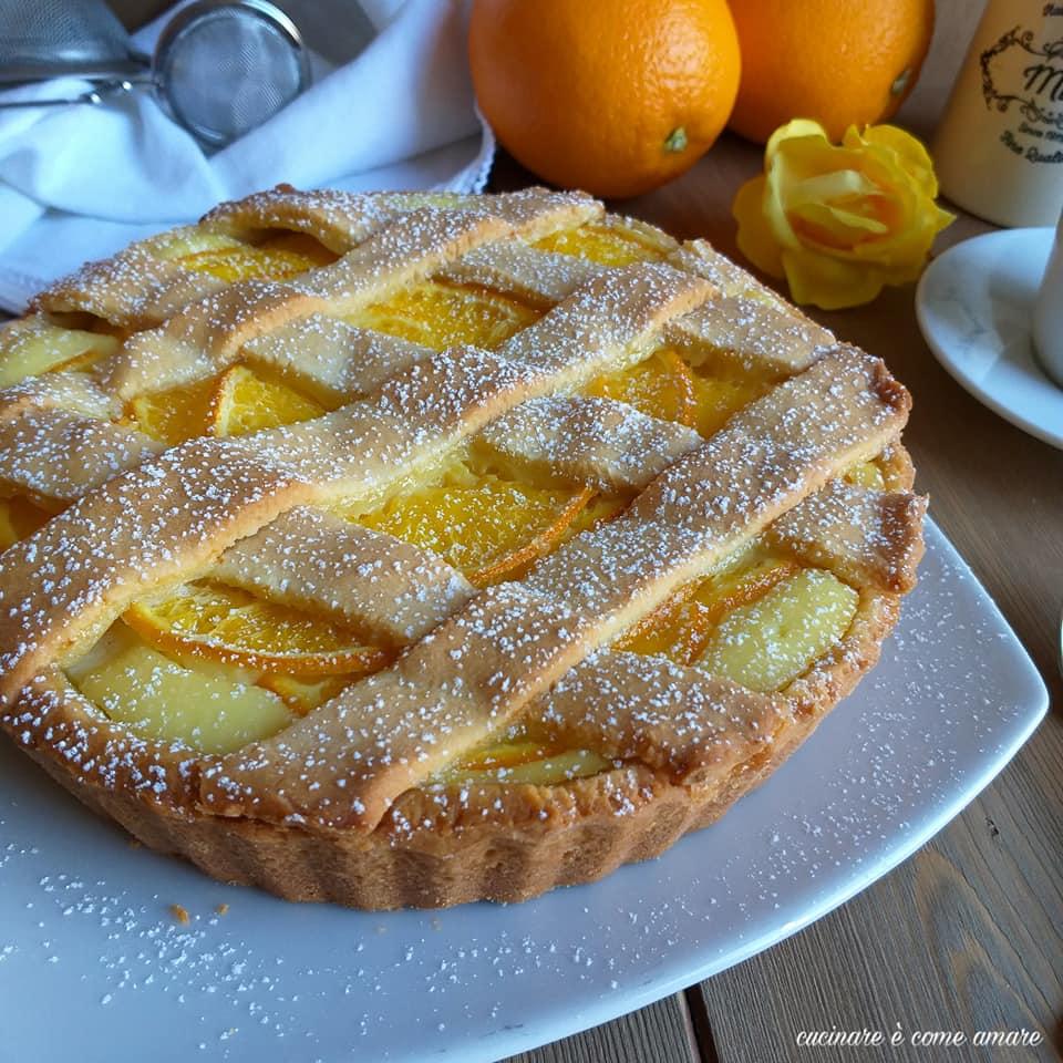 torta crostata all'arancia ripieno ricotta
