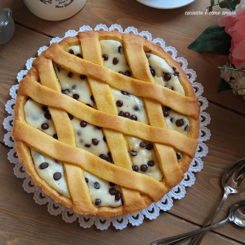 torta crostata con mascarpone cioccolato ripiena