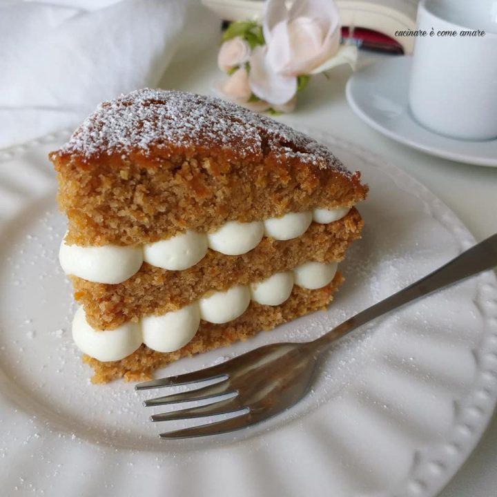 torta dolce alle nocciole con crema mascarpone