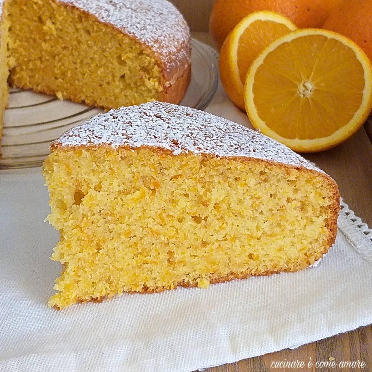 torta facilissima all'arancia dolce soffice