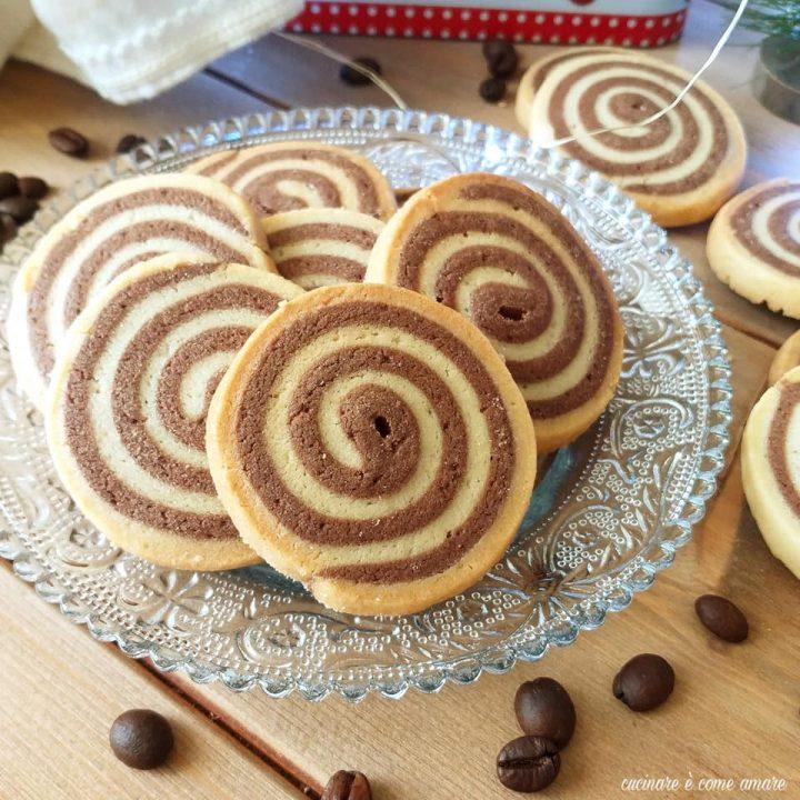 biscotto spirale bigusto con cacao e caffe'