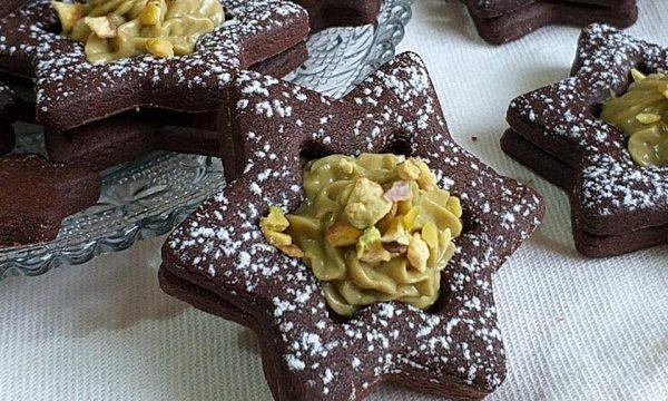 BISCOTTO STELLA DI NATALE cacao e pistacchio