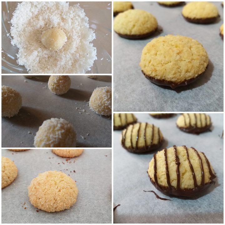 impasto biscotto cocco e cioccolato dolce pasticcino