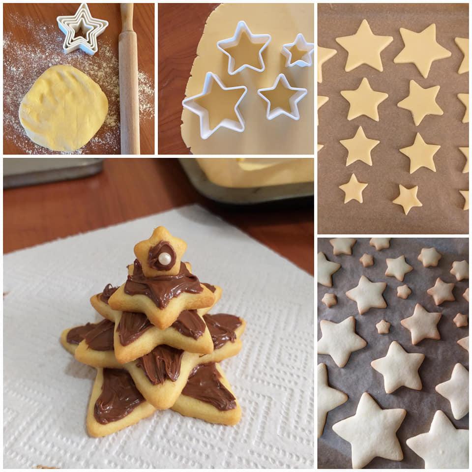 Albero Di Natale Con Biscotti A Stella.Impasto Frolla Biscotto Albero Di Natale Con Nutella Cucinare E Come Amare