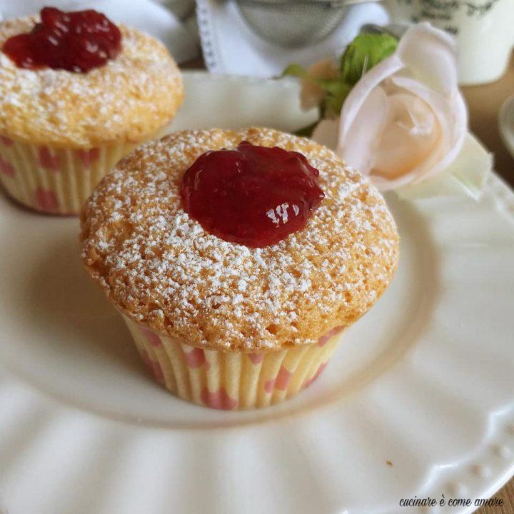 muffin dolce alla marmellata impasto soffice