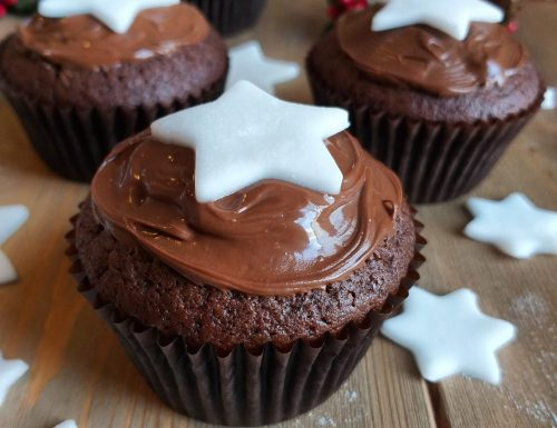MUFFIN TORTINA PAN STELLE dolce impasto al cacao