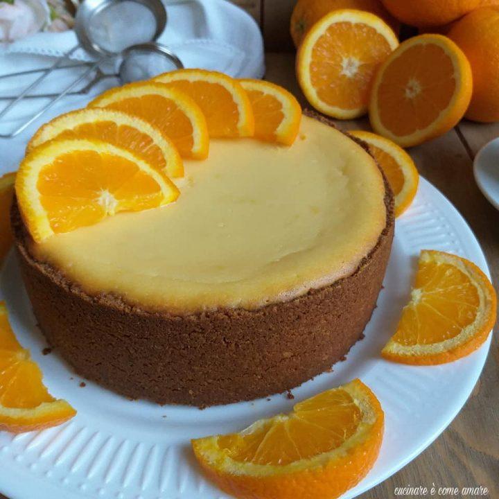 torta cheesecake arancia e ricotta dolce cremoso