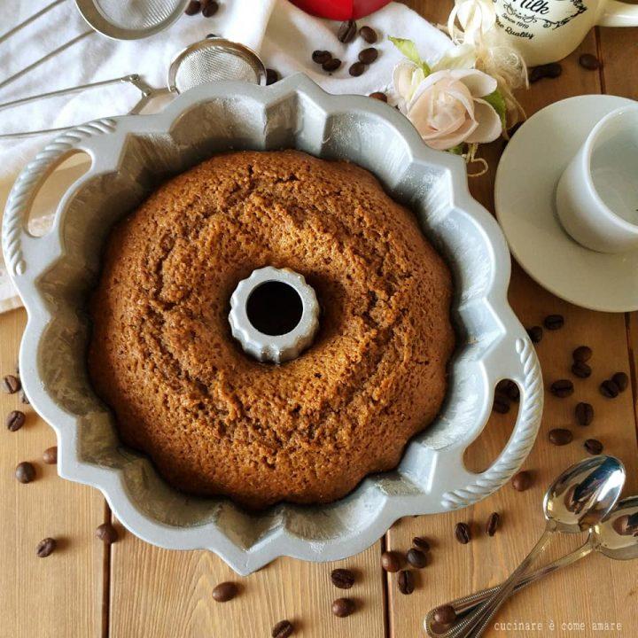 torta ciambella integrale al caffe' impasto senza burro