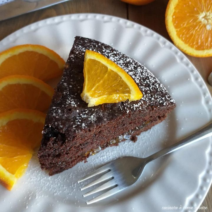 torta cioccolato e arancia dolce golosio