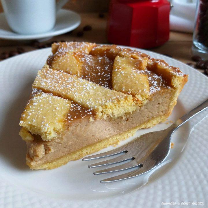 torta crostata ricotta e caffe' dolce ripieno