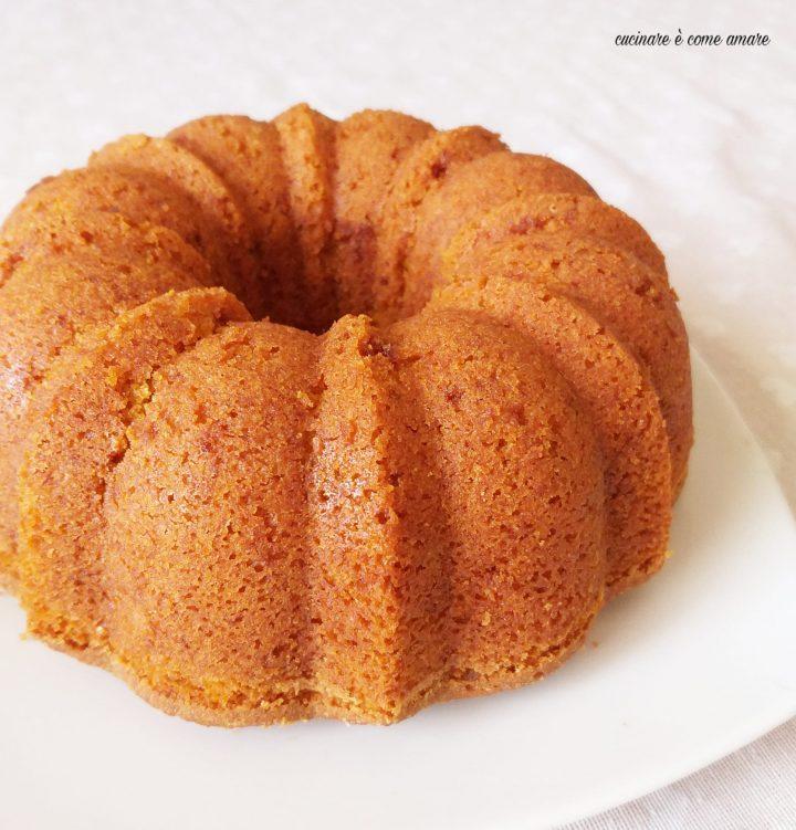 torta melarancia dolce impasto con frutta frullata