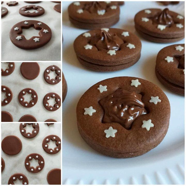 impasto biscotto stella pan stelle al cacao ripieno