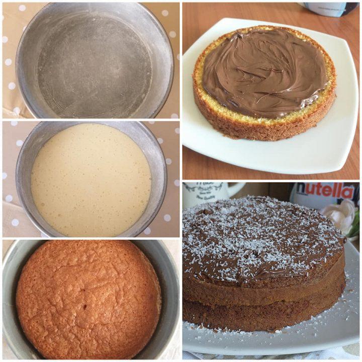 impasto torta cocco nutella dolce facile