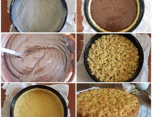 IMPASTO TORTA SBRICIOLATA ripieno crema cioccolato