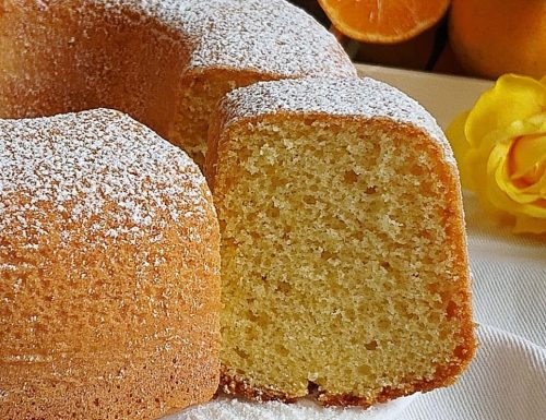 TORTA CIAMBELLA ALLE CLEMENTINE dolce soffice