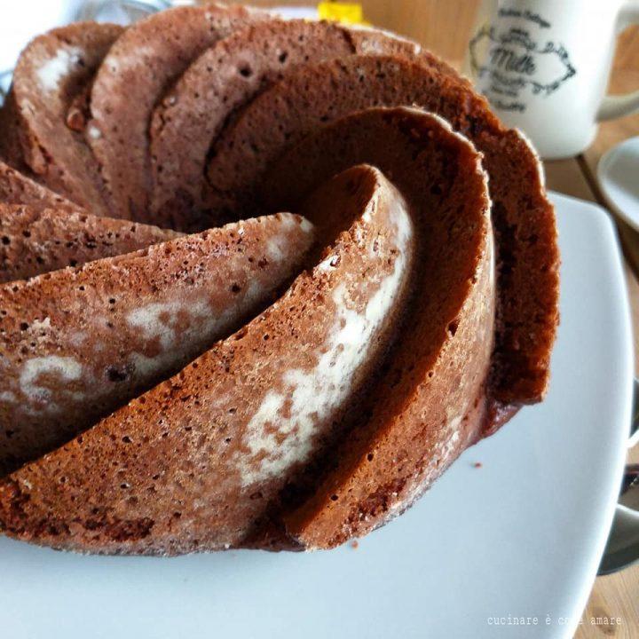 torta ciambella nuvoletta di cacao dolce soffice
