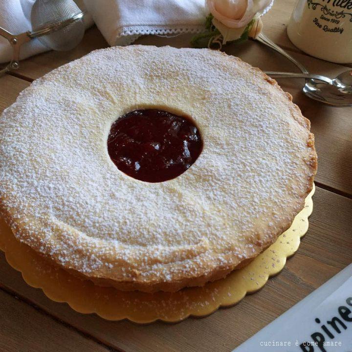 torta crostata occhiodibue ripieno marmellata