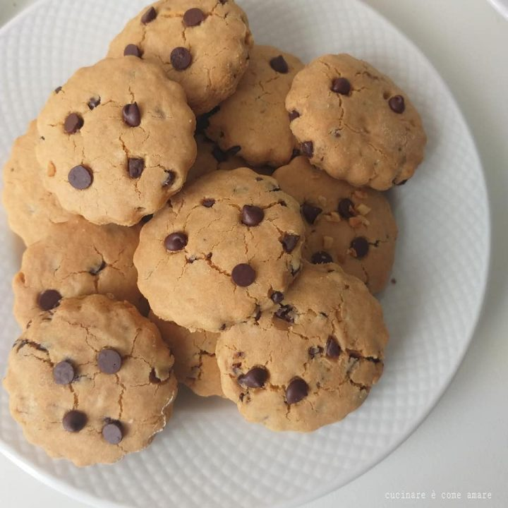 biscotto goccioloso friabile senza burro