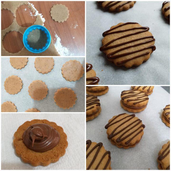 impasto biscotto caffe' nutella con glassa