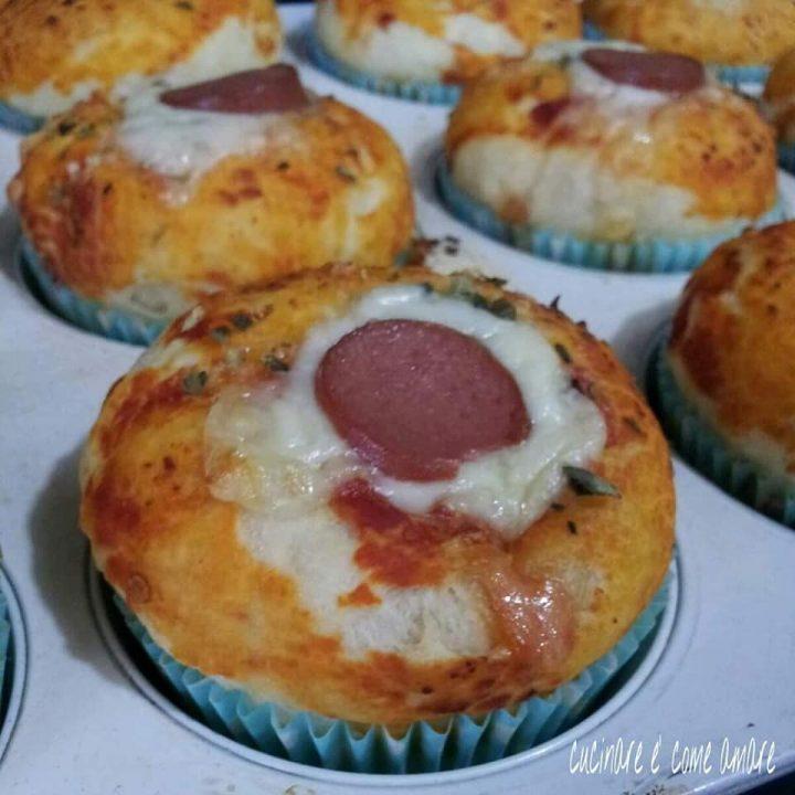 impasto muffin gusto pizza con ripieno