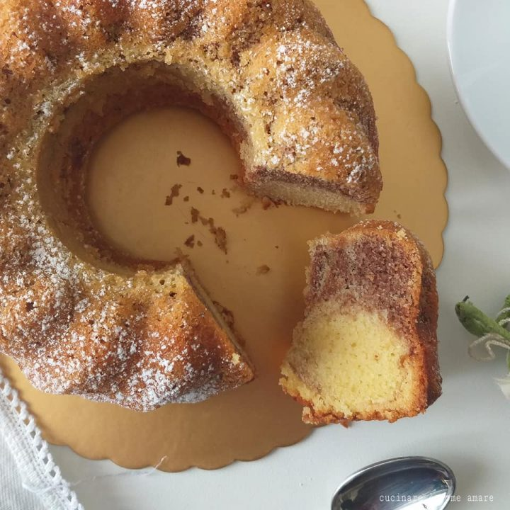 torta ciambellone bigusto impasto vaniglia e caffe'