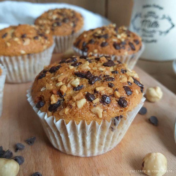 muffin tortina nocciole cioccolato dolce soffice